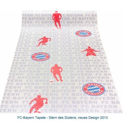 Preisvergleich Produktbild Rasch FC Bayern Tapete - neues Design 2013 0, 53 x 10, 05m Fußballtapete