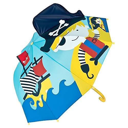 VON LILIENFELD® Ombrello Ragazzi Ragazze Bambini Motivo Pirata (Fino a 8 anni)
