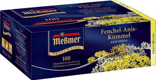 Meßmer ProfiLine Fenchel-Anis-Kümmel 100 x 2 g, 1er Pack (1 x 200 g)