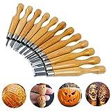 Kwow SK7in acciaio al carbonio manico in legno coltello trinciante Tools, lavorazione scalpello per legno (12pezzi)