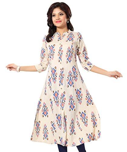 Meher Impex Off-White Khadi Printed Long Achkan Style Kurti