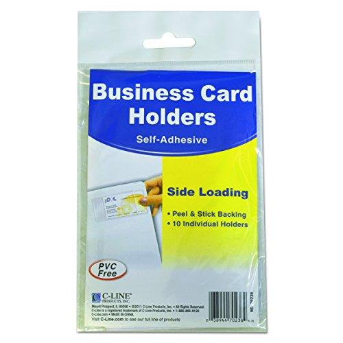 Visitenkartenhalter C-Line selbstklebend Seitenbelastung Pack of 10 farblos