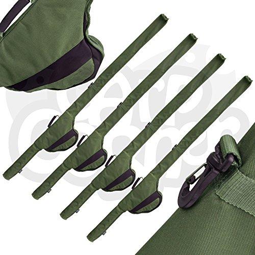 4x Rutentasche Sleeve 12ft Ruten passt Big Pit Rollen Karpfenangeln Tackle NGT