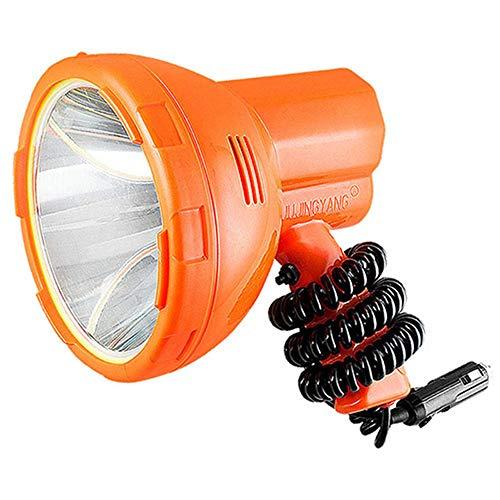 Wzlight Suchscheinwerfer 12v 1000m Angeln Licht, 50W LED-Licht Auto LED-Scheinwerfer, Super Helle Tragbare Scheinwerfer, Geeignet für Camping, Auto, Jagd
