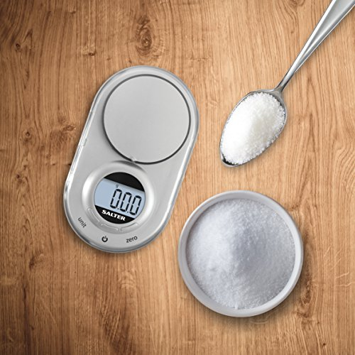 Salter Micro Digital Kitchen Scale – Electronic Micro Measuring Tool, Precision Baking/Cooking, Compact, Portable Design…