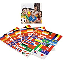 LUOEM 32Pcs 2018 Footbal World Cup Top32 Países Flag Pegatinas de papel Carnaval Deportes Eventos Body