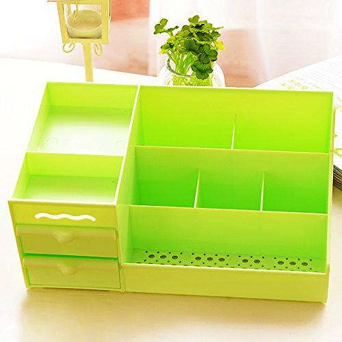 CUPWENH Große Schublade Typ Kosmetikkoffer, Schmuck, Desktop Kosmetik, Aufbewahrungsbox, Farbe Kleine Tasche, Grün (Lagerplätze Und Körbe)