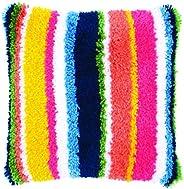 Latch hook cushion kit Bright stripes
