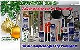 Adventskalender Karpfen (4) 24 Einzelteile Anglergeschenk Karpfenzubehör Angelset