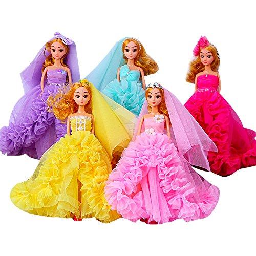 awaii Hochzeits Blume Kleid Prinzessin Puppe Keychain niedlichen Schlüsselanhänger für Kinder Erwachsene ()