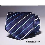AanYuAanTIE Corbata De 8 Cm para Hombres Vestido De Raya para Novias, Corbata Azul Y Blanca