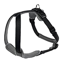 Hunter Neoprene Dog Harness, Large, Black/Grey