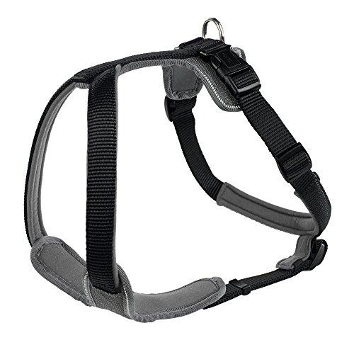 HUNTER Hundegeschirr Neopren, Größe L, schwarz/grau