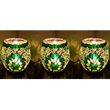 3 x superbe turc marocain en verre color mosaque porte bougie th lumire lampes g5