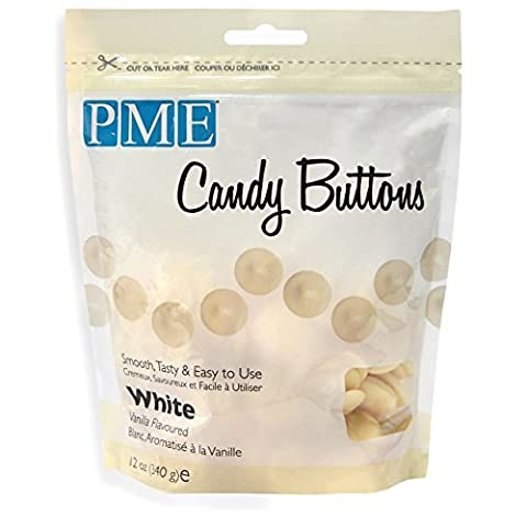 PME Candy Buttons White Vanilla 340 g