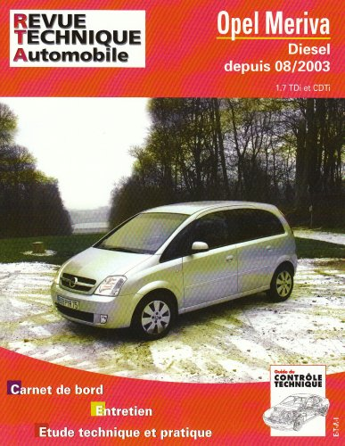 revue technique 681.1 Opel Meriva Diesel