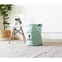 GWELL Kinderzimmer Wäschekorb Faltbar Wasserdicht Wäschebox Wäschesammler Aufbewahrungsbox Kinder Spielzeug Aufbewahrungskorb grün