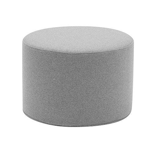 Softline Drum Hocker / Beistelltisch S, hellgrau Stoff Felt 620 H 30cm Ø 45cm