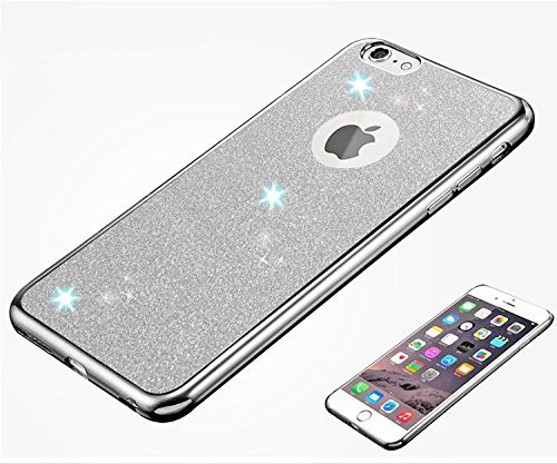 iPhone 6S Hülle Silicone,iPhone 6S Hülle Glitzer,iPhone 6 Hülle Rosa,EMAXELERS iPhone 6S Plating Gold TPU Bumper Case Soft Silikon Gel Schutzhülle Hülle für iPhone 6 4,7 Zoll,iPhone 6S Hülle Glitzer D Z TPU 4