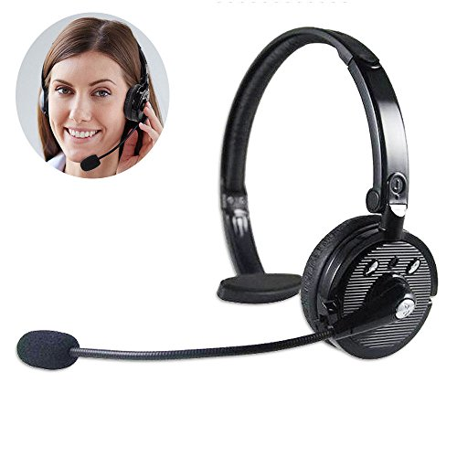 efanr bh-m10b Multi Wireless Kopfhörer mit HD Mikrofon über den Kopf Stereo Bluetooth Headset Geräuschunterdrückung Freisprechfunktion aufnehmen Spiel Kopfhörer für iPhone Samsung Smartphone Laptop Desktop-PC (Bluetooth Headset Voice-dial)