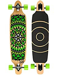 Osprey Flame Skull Twin Tip - Longboard (99 cm), color negro