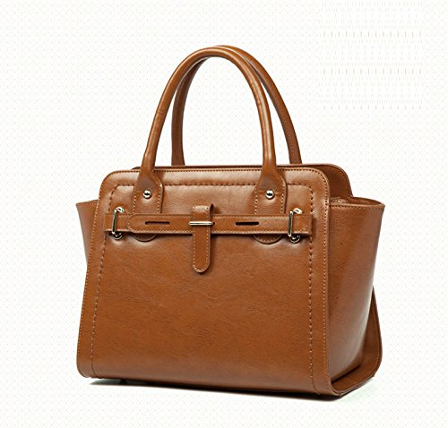 GUANGMING77 _ Borsa Borsa Borsetta Tracolla,Marrone brown