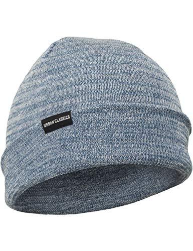 Urban Classics Melange Beanie Bonnet, Bleu (Navy 00155), Taille Unique Mixte