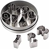 Number Graphic Pattern Metal Cookie Cutt...