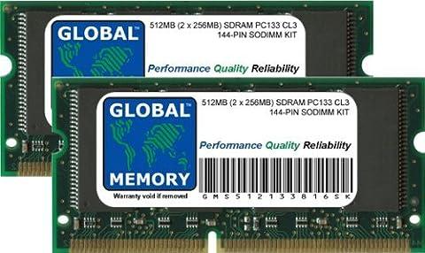 512Mo (2 x 256Mo) PC133 133MHz 144-PIN SDRAM SODIMM MÉMOIRE RAM KIT POUR TITANIUM POWERBOOK G4