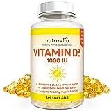 Vitamine D3 1000iu 365 Softgels 1 an d'approvisionnement par Nutravita