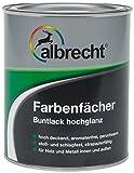 Albrecht Farbenfächer Buntlack hochglanz RAL 7035 375 ml, grau, 3400505800703500375