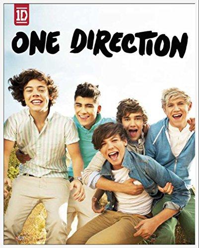 One Direction - Album -1D Pop Musik Mini Poster Plakat Druck Boys Harry Liam Niall Zayn Louis - Grösse 40x50 cm + Wechselrahmen, Shinsuke® Maxi Kunststoff Weiss, Acryl-Scheibe