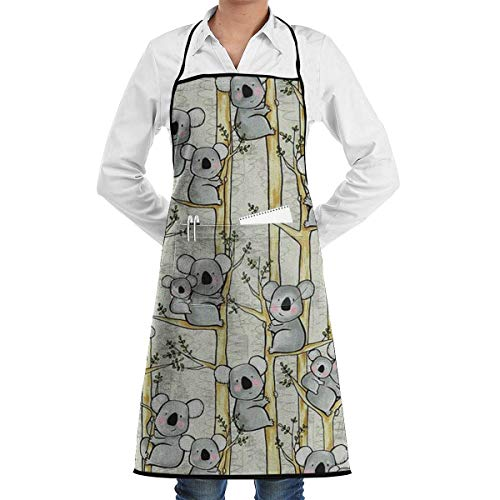 Koala Mother and Baby Bib Apron