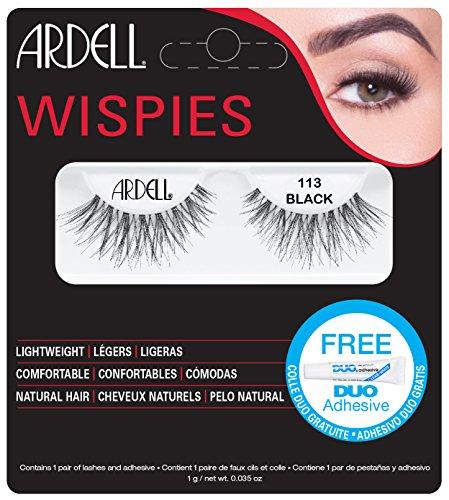 Ardell Fashion Wimpern (Ardell Fashion Lashes 113, das Original, black, 1er Pack (1 x 1 Paar))