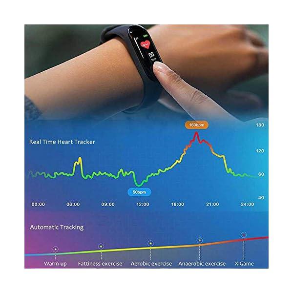 Pulsera inteligente/rastreador de fitness, pantalla de color HD IP68 impermeable M3 Plus pulsera de seguimiento de… 8