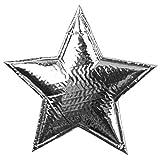 6 silberne Sterne weich Tisch Deko weihnachtliche Dekoration Zierschmuck