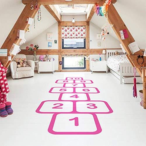 Wandaufkleber Wandaufkleber Für Kinderzimmer Personalisierte Boden Dekor Familie Spiele Kindheit Erinnerungen Decals Jump Plaid Spielerische Vinyl