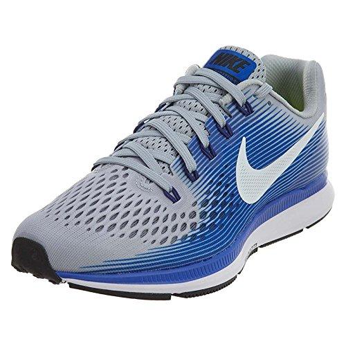 Nike Air Zoom Pegasus 34 (w), Chaussures de Trail Homme, Gris (Wolf Grey/White-Racer Blue), 43 EU