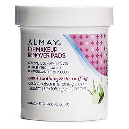 Almay Eye Makeup Remover Pads, Gentle, Soothing & De-Puffing 80
