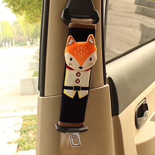 EXQULEG Netter dreidimensionaler Sicherheits Schulterpolster Schulterkissen Gurtpolster für Kinder (Fuchs) -