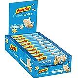PowerBar Clean WheyProtein Riegel Low Sugar Eiweiß-Riegel (ohne Schokoladenüberzug Fitness-Riegel) - Vanilla Coconut Crunch (18 x 45g)
