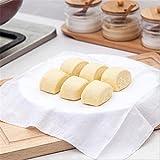 Dealglad® 5Piezas Reutilizable ollas de Tela de Gamuza de algodón Puro con vaporera de bambú Mejor Calidad Natural Redonda Accesorio de Gasa Pad