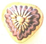 Antiquitäten - antike Backform, Verzierung, Schokoladenform - UNBENUTZT - NEUWERTIG - Herz (325)