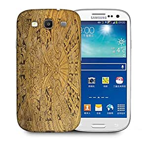 Snoogg Abstract Golden Design Printed Protective Phone Back Case Cover For Samsung S3 / S III