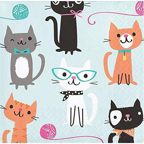 Tradico® Cat Party Beverage Napkins, 48 Count