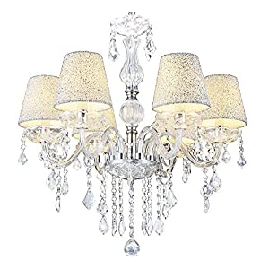 MELION Ø60 Cm Kristall Kronleuchter Deckenleuchter Lüster Leuchte  Lampenschirme