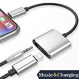 Lightning Adapter Kopfhörerbuchse Dongle für iPhone 7 / 7Plus 8 / 8Plus iPhone X 10 iPod / iPad Konverter Kopfhörer auf 3,5 mm Adapter Zubehör Kabel Musik und Ladegerät Lautstärkeregelung Kompatibel iOS11 oder Late Kopfhörer Kabel