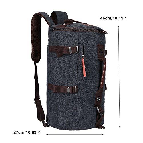 Imagen de fafada bolso  lona saco de viaje bolsa de viaje bolsa de deporte bolsa de libros cartera escolar negro alternativa