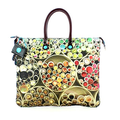 BORSA GABS WEEK STUDIO-I16 PRINT SHOPPING STUDIO DAV/DT TG M (236 BOTTONI)