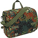 Canvas-Umhängetasche, Kampftasche Farbe Flecktarn